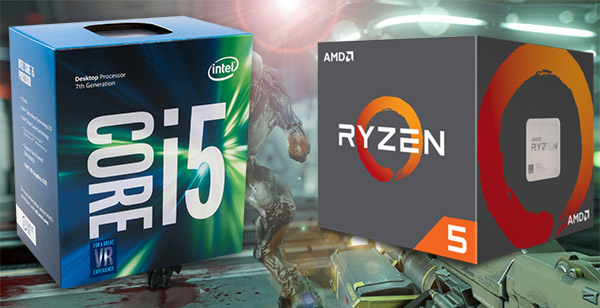 Ryzen 5 1600x vs Intel Core i5-7600k