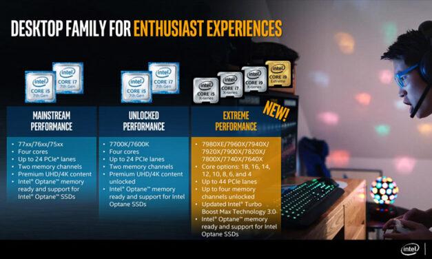 Primele teste cu cu Intel i9 7900X, i7 7820X si i7 7800X
